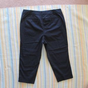 Talbots Navy Blue The Perfect Crop chino pants 14P